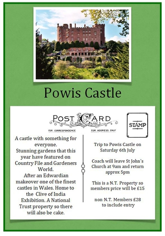 Powis Castle Coach Trip