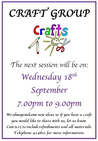 Craft Group September 2019