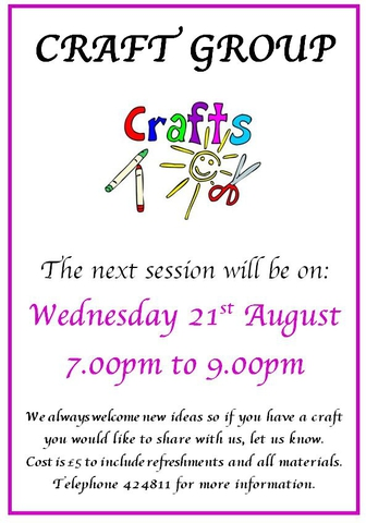 Craft Group August 2019