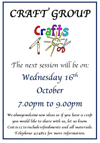 Craft Group October 2019