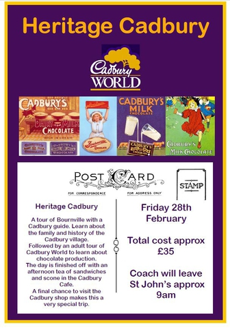 Heritage Cadbury Coach Trip